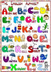 English Worksheet: The English Alphabet - POSTER