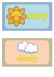 English Worksheet: Weather Conditions FLASH CARDS