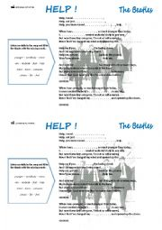 English Worksheets: HELP !, the Beatles