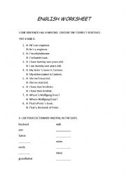 English Worksheets: English Worksheet