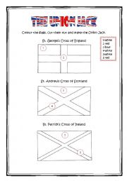 English Worksheet The Union Jack