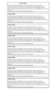 English Worksheets: Orphan Gorillas