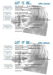 Let it be, John Lennon