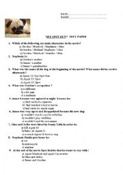 English Worksheets: Test from the movie