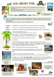 English Worksheets: Are you ready for... Koh Lanta ?? ( 1/2 )