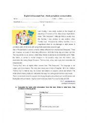 English Worksheets: Media and global communication
