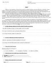 Reading Quiz (Pre-intermediate)