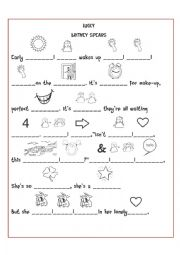 English Worksheet: Lucky Britney Spears