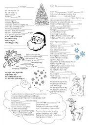 Christmas songs - gap filling
