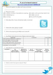 English Worksheet: New technologies: a video about Twitter