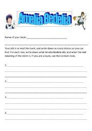 English worksheets: Amelia Bedelia (Idioms)