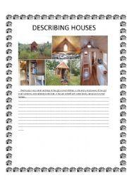English Worksheet: Describing Houses