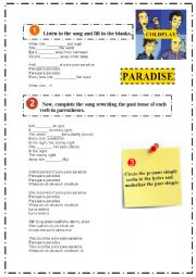 English Worksheet: Coldplay - Paradise