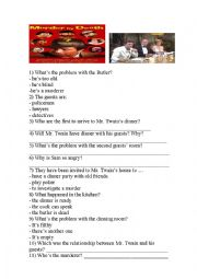 English Worksheets: MURDER BY DEATH