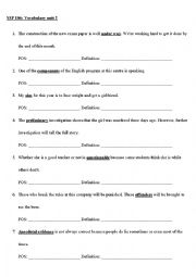 English Worksheets: Guessing meaning from context
