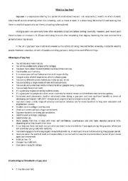 English Worksheet: Gap Year - useful information