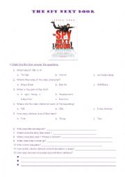 English Worksheets: THE SPY NEXT DOOR (2010) JACKIE CHAN MOVIE-W.SHEET