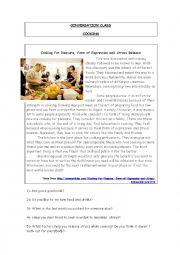English Worksheet: Conversation class cooking
