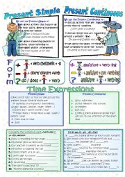 English Worksheet: Present Simple or Present Continuous