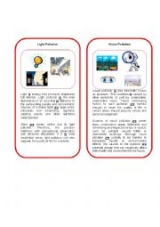 english worksheets environmental threat 3 vision and light pollutions. Black Bedroom Furniture Sets. Home Design Ideas