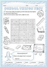 English worksheets: at School worksheets, page 27
