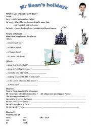 English Worksheets: Mr Bean Holiday