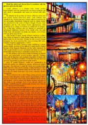 English Worksheets: Modern Artists - Leonid Afremov