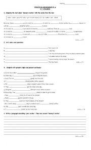 English Worksheets: assignment