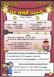 English Worksheets: So and Such