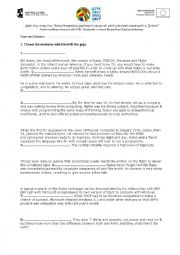 English Worksheet: FCE mini exam.