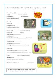 English Worksheets: PHINEAS AND FERB - Unfair Science Fair 1/2