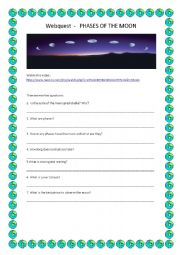 English worksheet: Phases of the moon