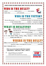 Printables Bullying Worksheets For Kids english teaching worksheets bullying key informaton about bullying