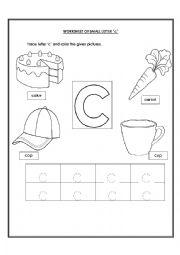 math worksheet : english teaching worksheets the alphabet : Letter C Worksheets For Kindergarten