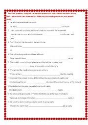 Adverbial Clauses rewrite