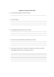 English Worksheets: Questions for the movie Soul Surfer