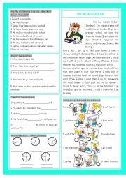 English Worksheets: My Schooldays