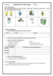 English Worksheet: Lesson4: Let Every Day be an Earth Day
