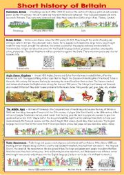 English Worksheets: Short histoy of Britain (part 2)