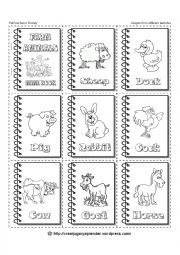 English Worksheets: FARM ANIMALS - MINIBOOK - 4 of 6