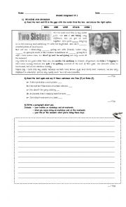 English Worksheets: Two sisters