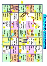 English Worksheet: Future tenses board game