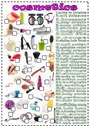 English Worksheet: cosmetics