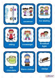 English Worksheet: Seasons Flashcards - Part 2 - Winter