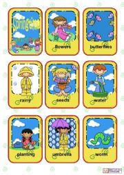 English Worksheet: Seasons Flashcards - Part 3 - Spring