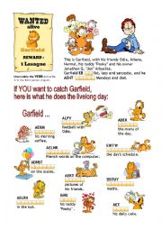 Present Simple: Garfield´s Day 1