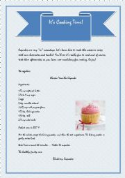 English Worksheet: It�s Cooking Time [4pages]