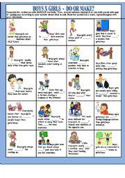 English Worksheet: DO OR MAKE?