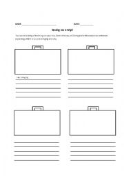 English Worksheet: Going On a Trip