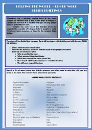 English Worksheet: Volunteering - Helping the World - Crises briefings